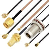 hirose u. fl connector compatible coaxial cable assembly jumpers from pasternack